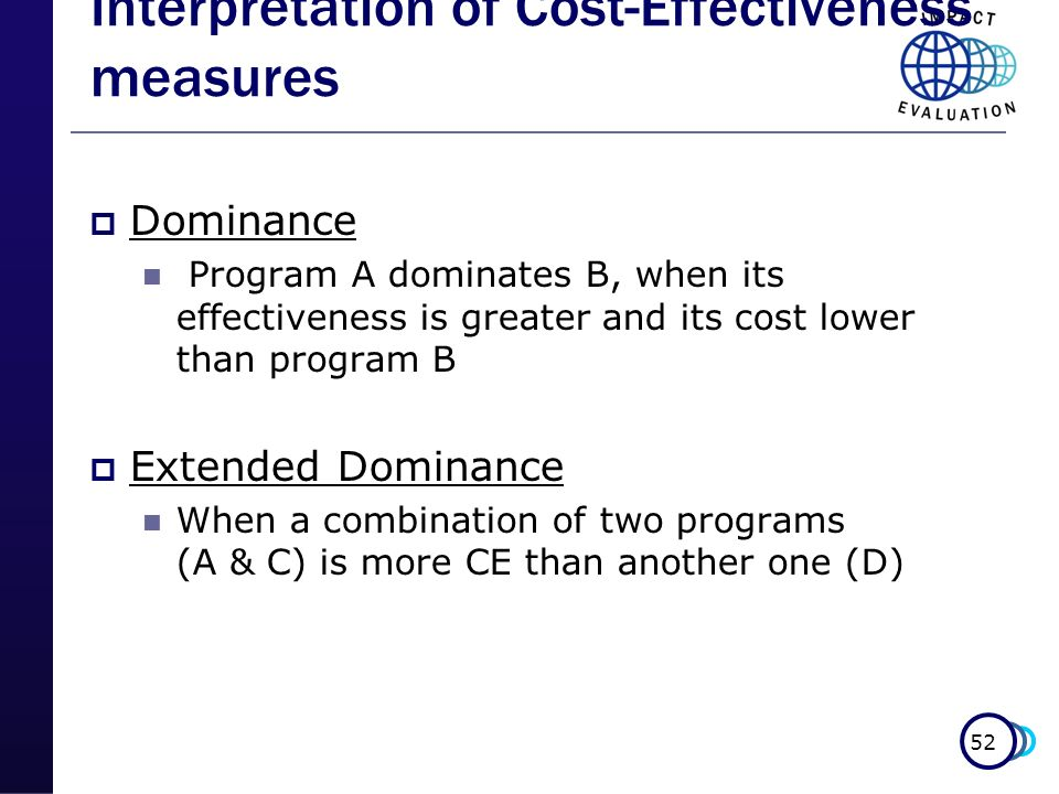 Interpretation of Cost-Effectiveness measures