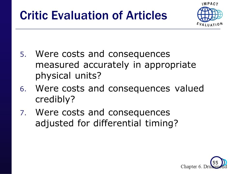 Critic Evaluation of Articles