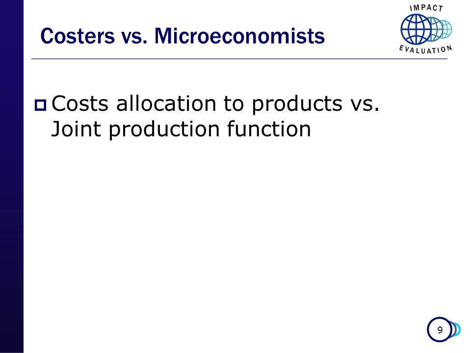Costers vs. Microeconomists