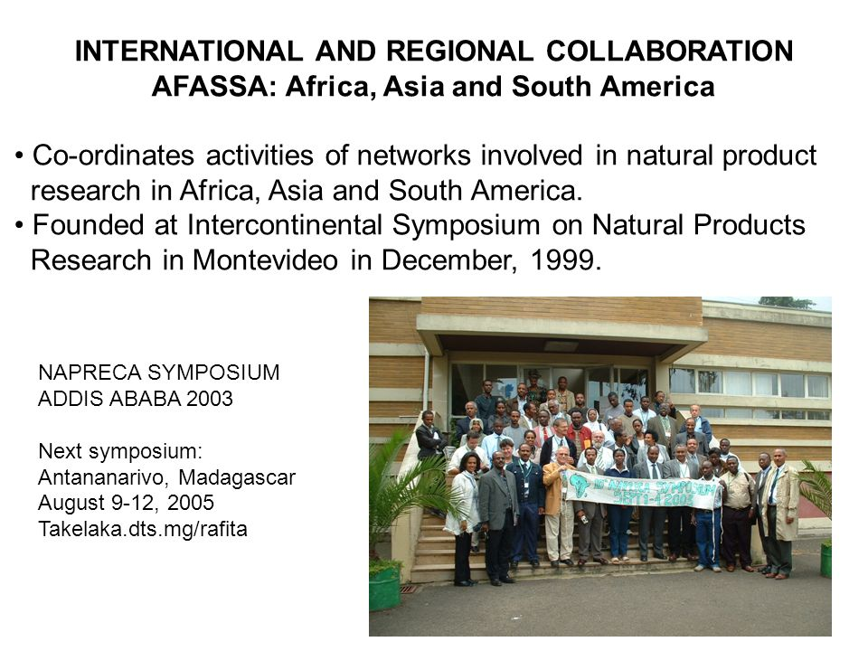 INTERNATIONAL AND REGIONAL COLLABORATION