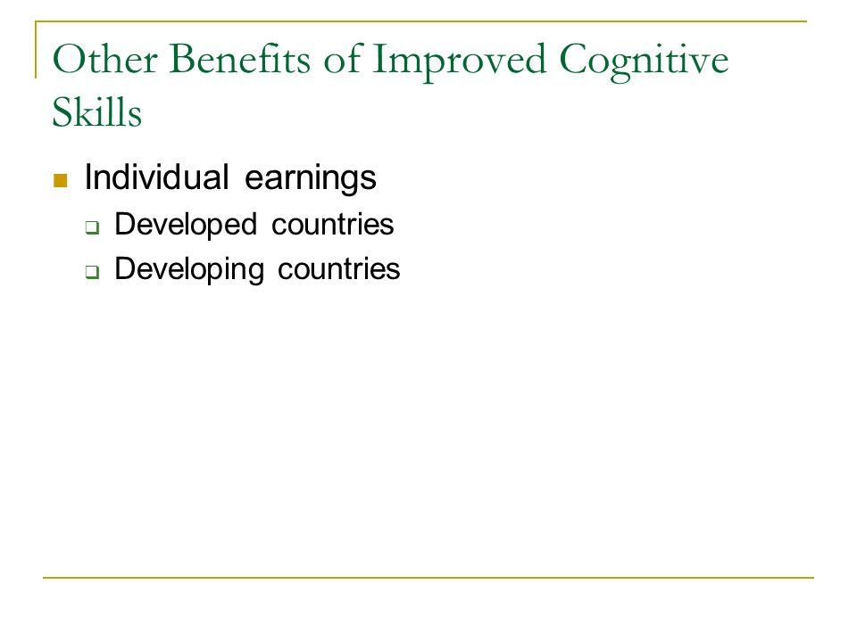 Other Benefits of Improved Cognitive Skills