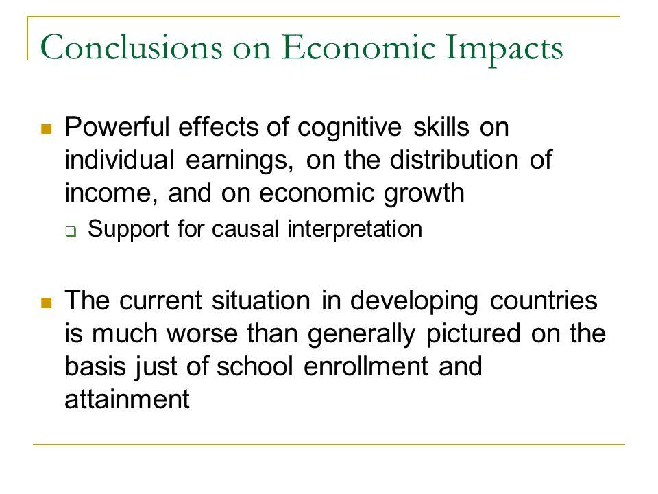 Conclusions on Economic Impacts