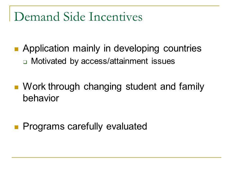 Demand Side Incentives