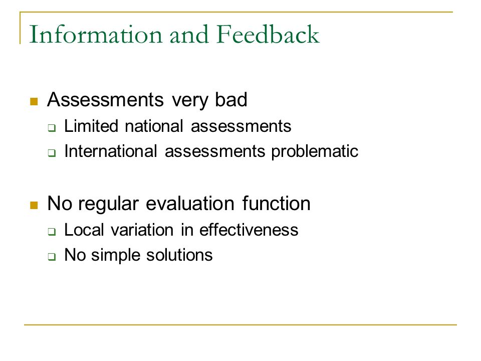 Information and Feedback