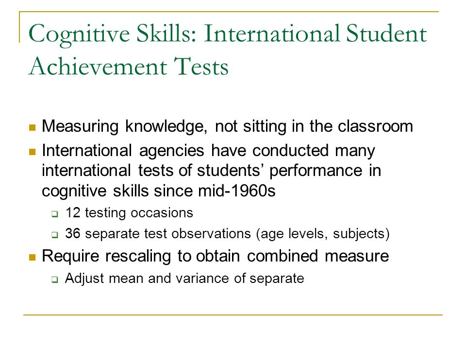 Cognitive skills in sports performance