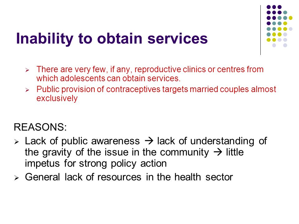 Inability to obtain services