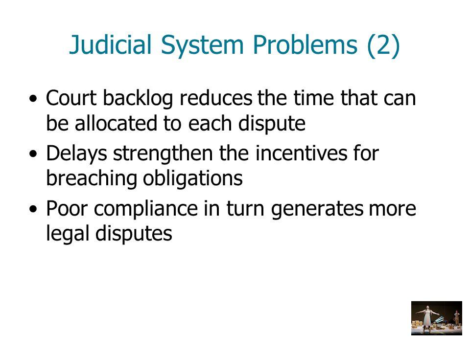 Judicial System Problems (2)