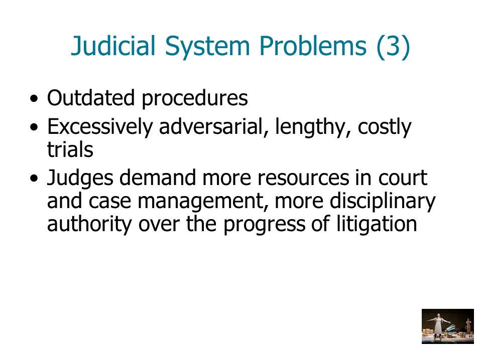 Judicial System Problems (3)