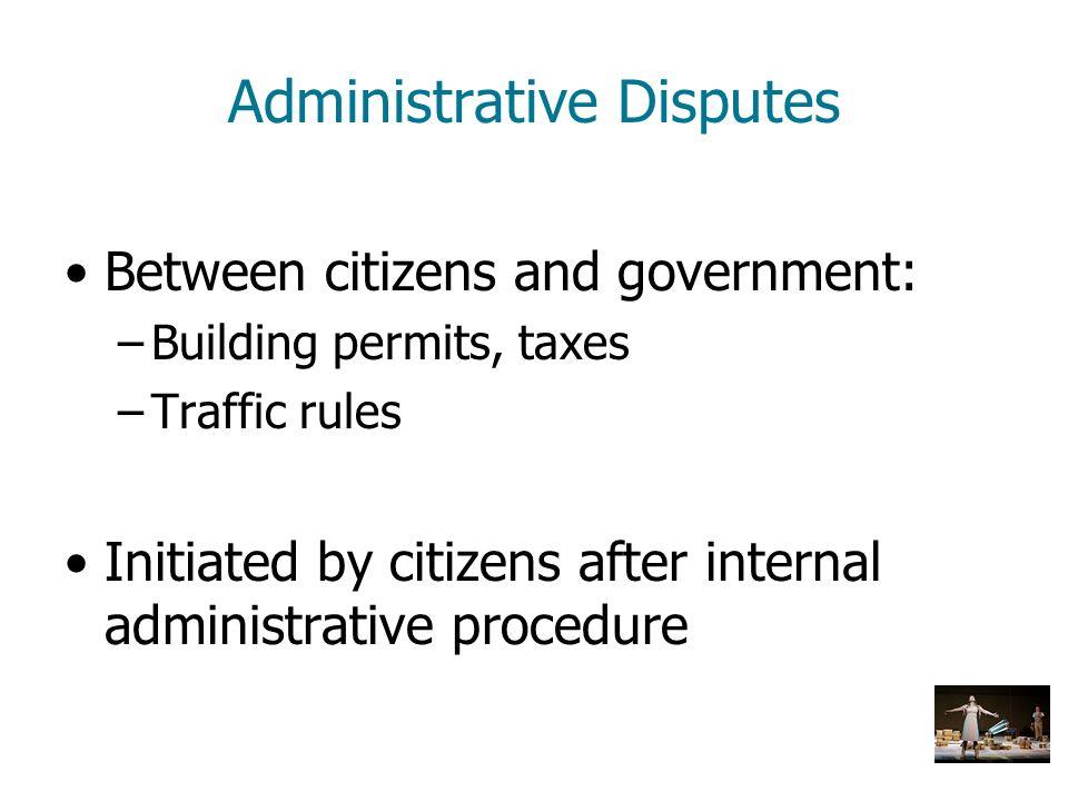 Administrative Disputes