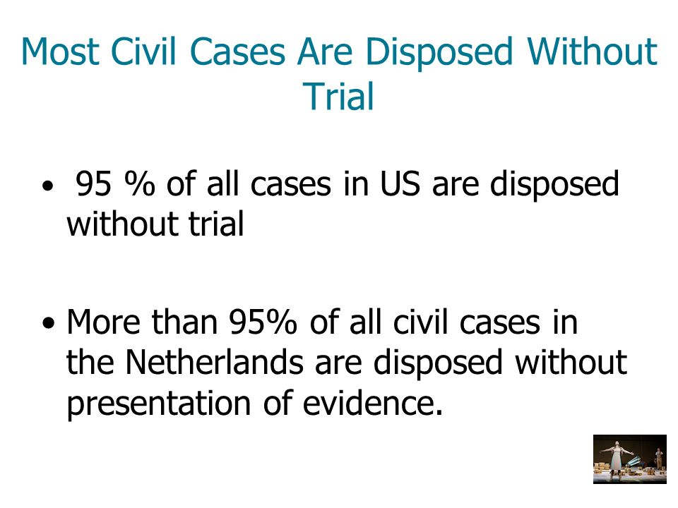 Most Civil Cases Are Disposed Without Trial
