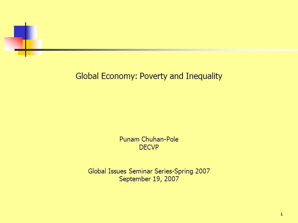 Global Economy: Poverty and Inequality