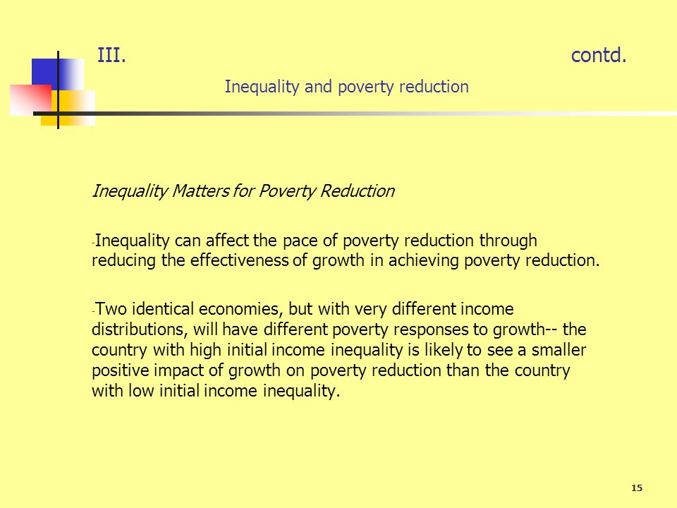 contd. Inequality and poverty reduction