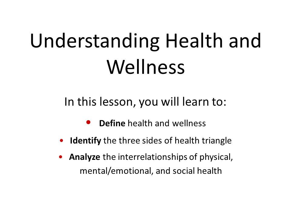 Have a Balanced Health Triangle | Triangles and School