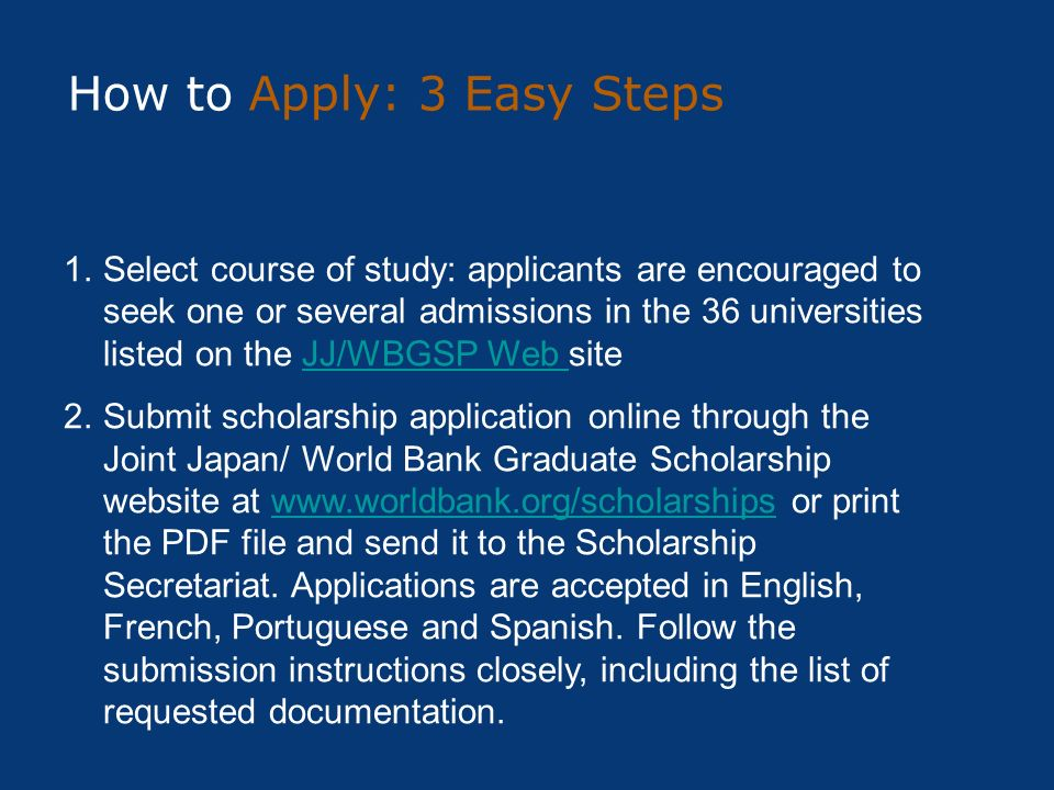 How to Apply: 3 Easy Steps