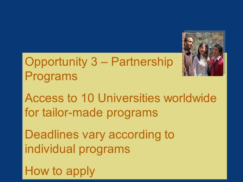 Opportunity 3 – Partnership Programs
