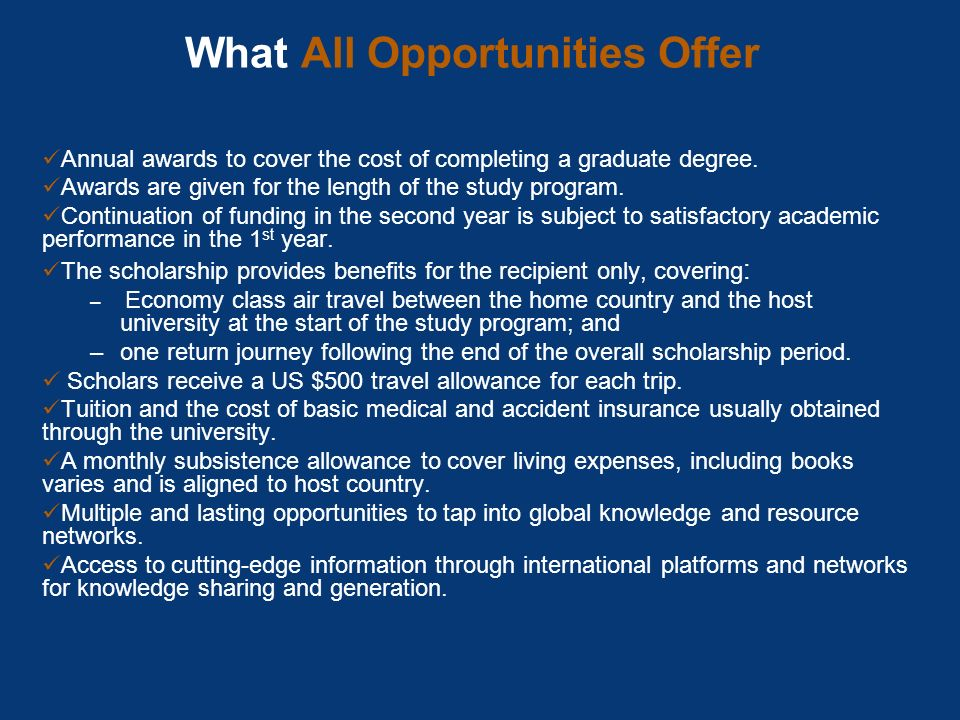 What All Opportunities Offer