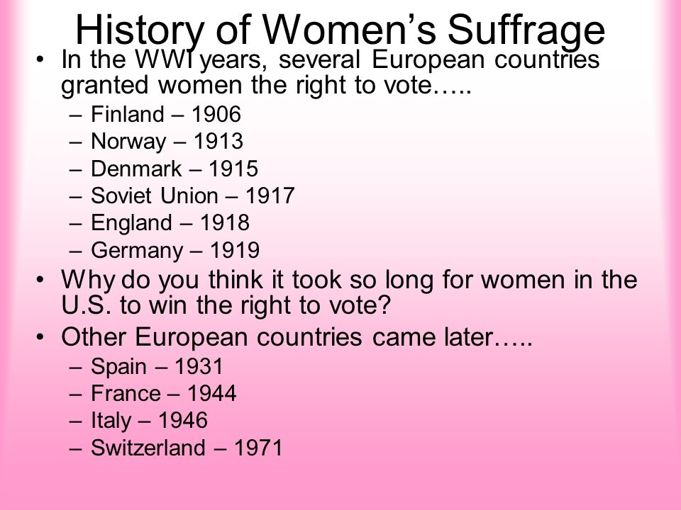 womens right to vote took eighty years to be accomplished Giuliani waffling on womens' right to choose  giuliani took credit for far more than he personally accomplished  1934 -- eighty-nine and nine-tenths percent.