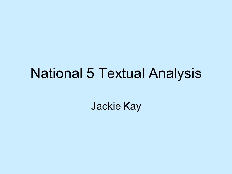 National 5 Textual Analysis