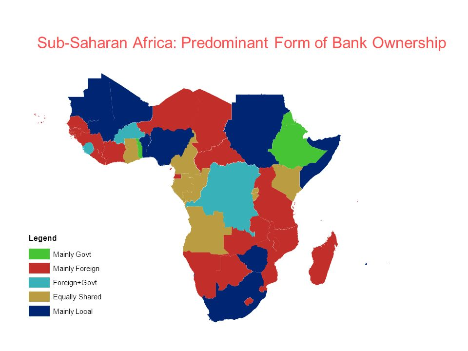 Sub-Saharan Africa: Predominant Form of Bank Ownership