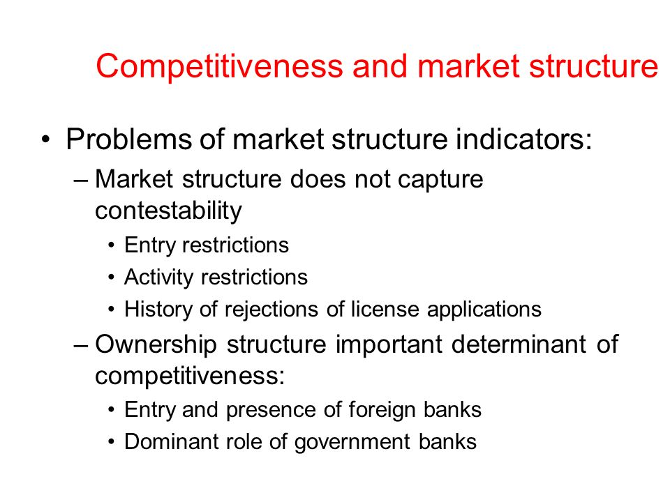 Competitiveness and market structure