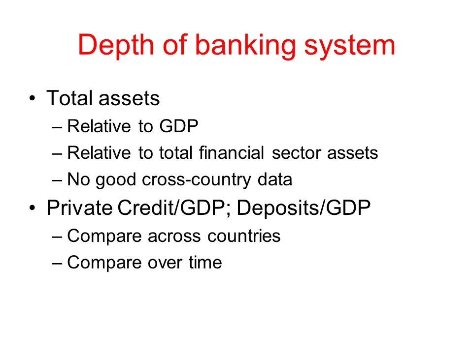 Depth of banking system