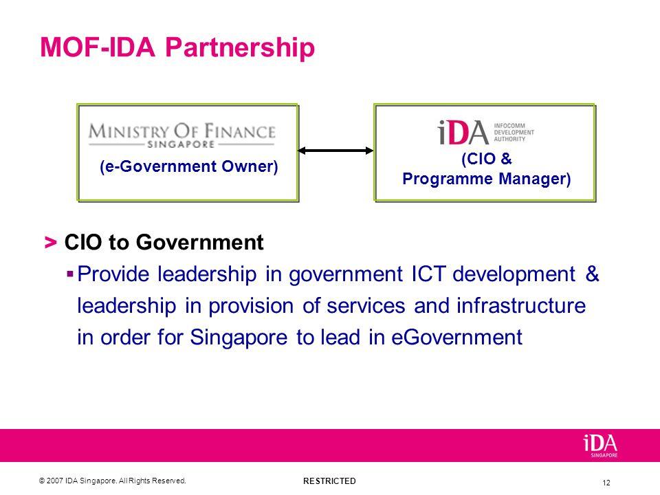 MOF-IDA Partnership CIO to Government