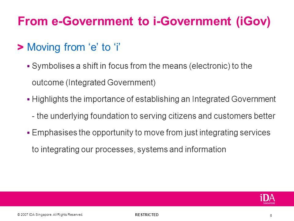 From e-Government to i-Government (iGov)