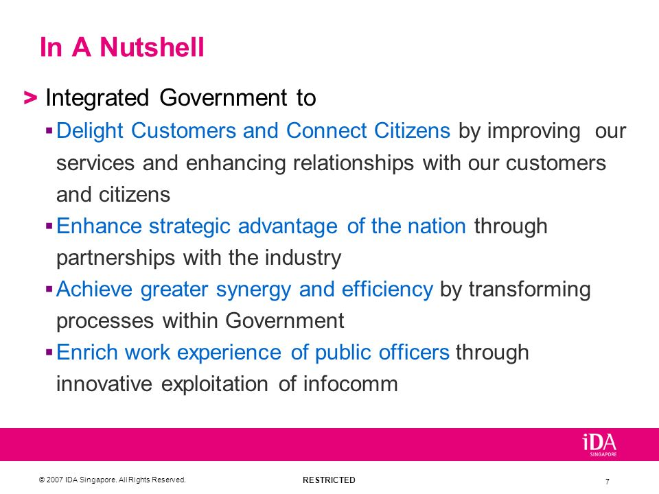 In A Nutshell Integrated Government to
