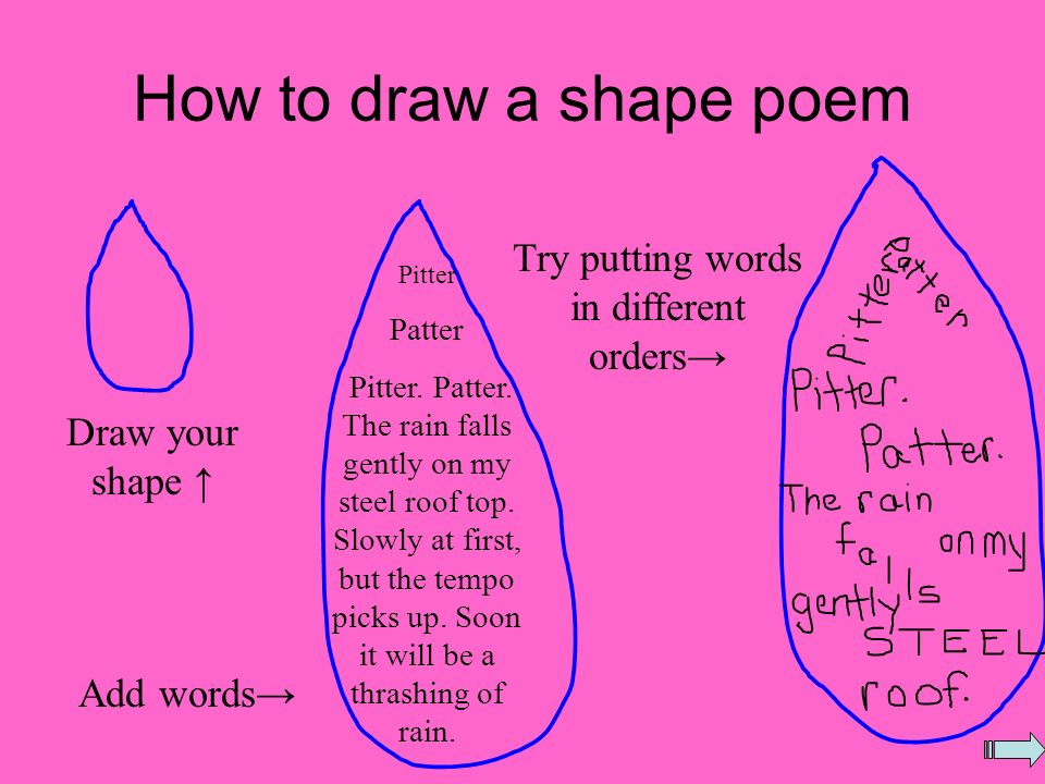 Shape Poems Amy Conway Click the arrow to continue. - ppt ...  Try Word
