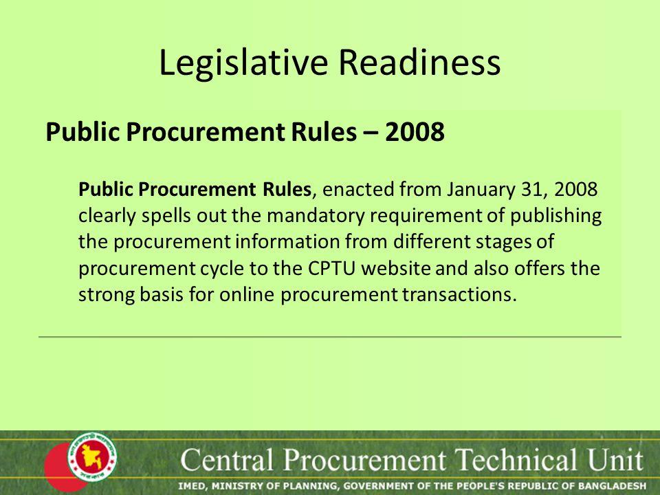 Legislative Readiness