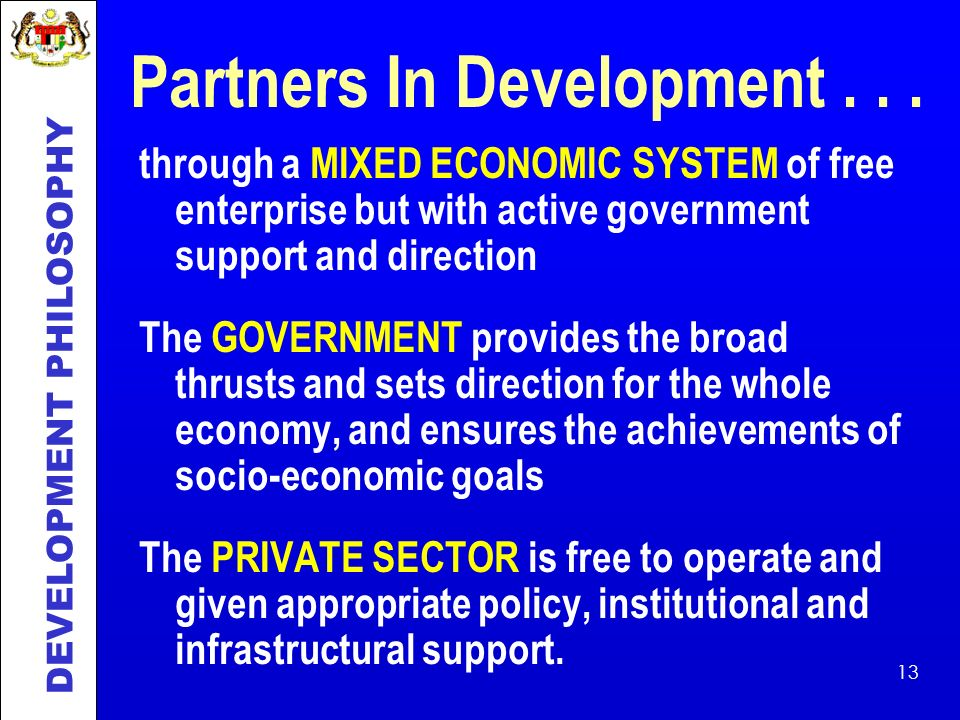 Partners In Development . . .