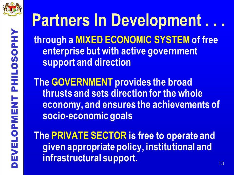 Partners In Development . . .