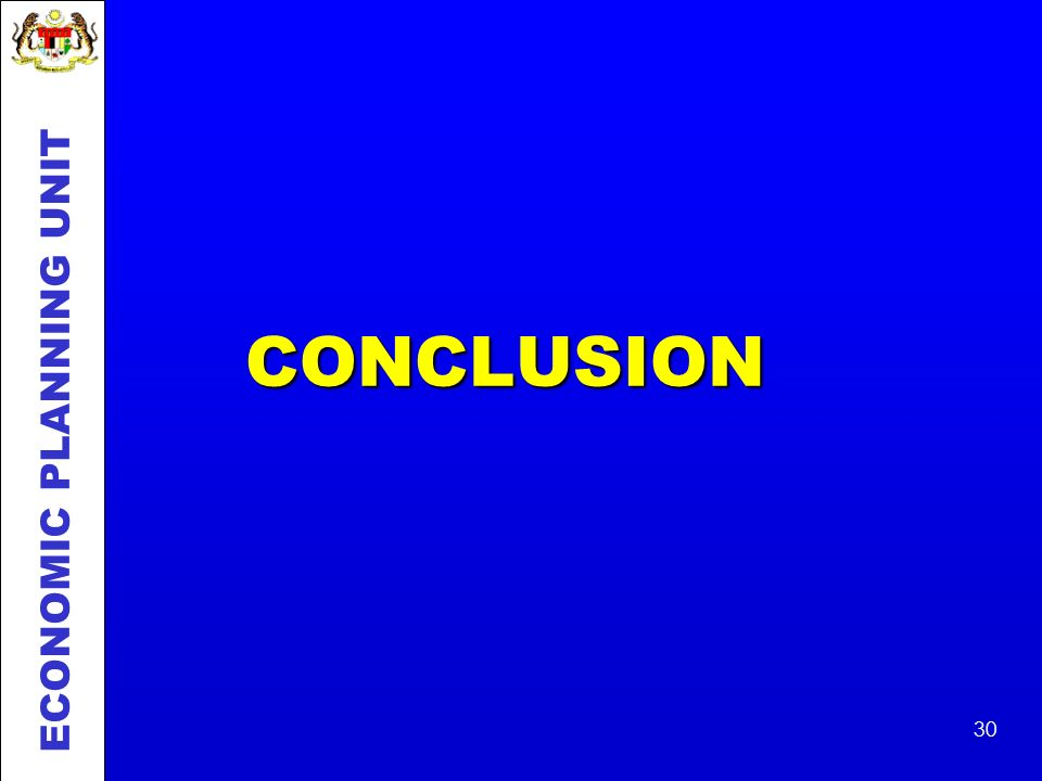 CONCLUSION ECONOMIC PLANNING UNIT
