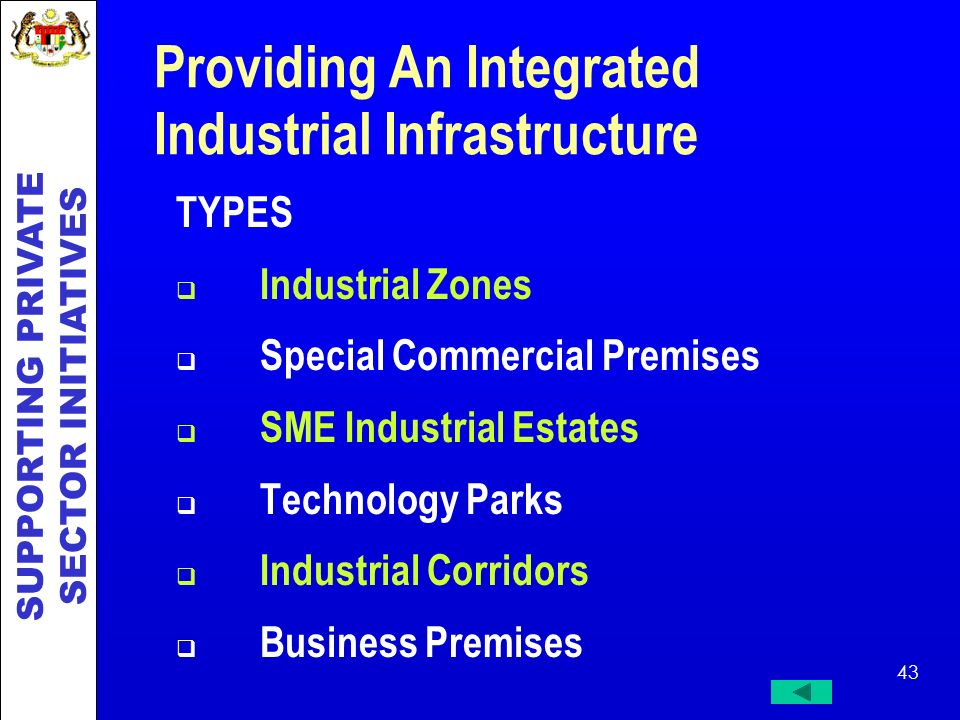Providing An Integrated Industrial Infrastructure
