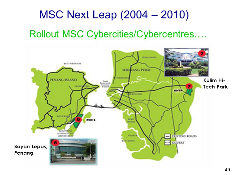 Rollout MSC Cybercities/Cybercentres….