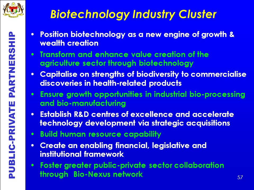 Biotechnology Industry Cluster