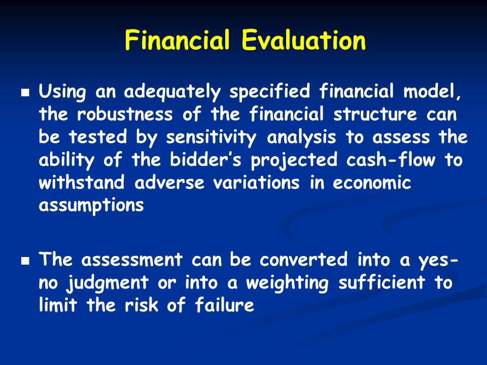 Financial Evaluation