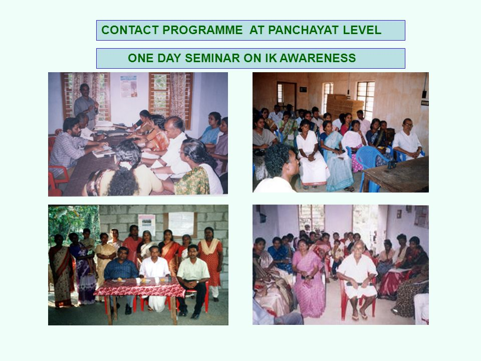 CONTACT PROGRAMME AT PANCHAYAT LEVEL