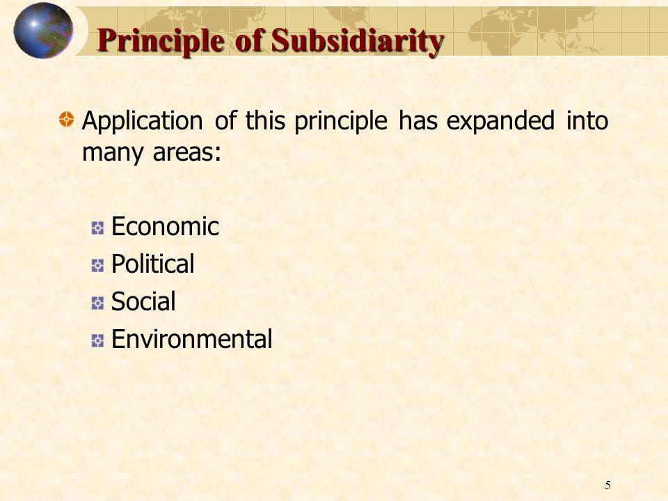 Principle of Subsidiarity