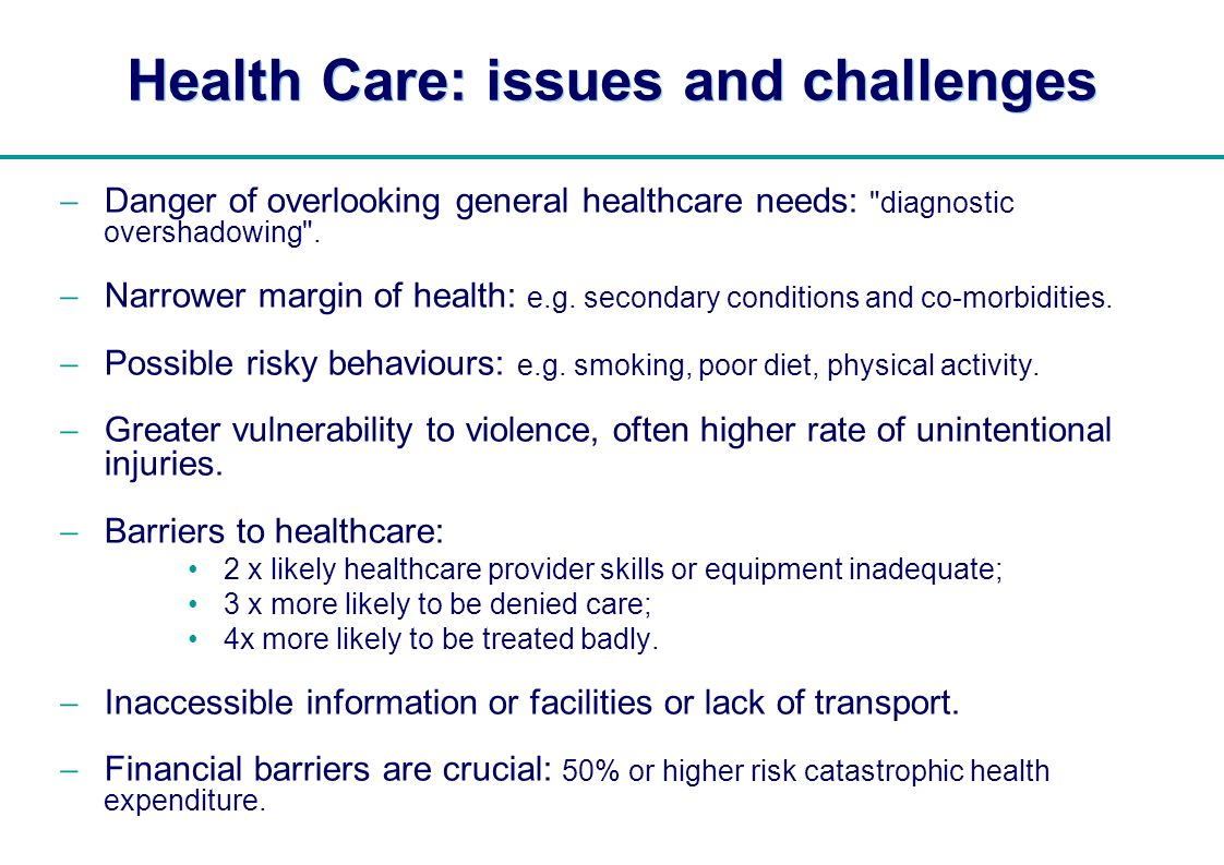 Health Care: issues and challenges