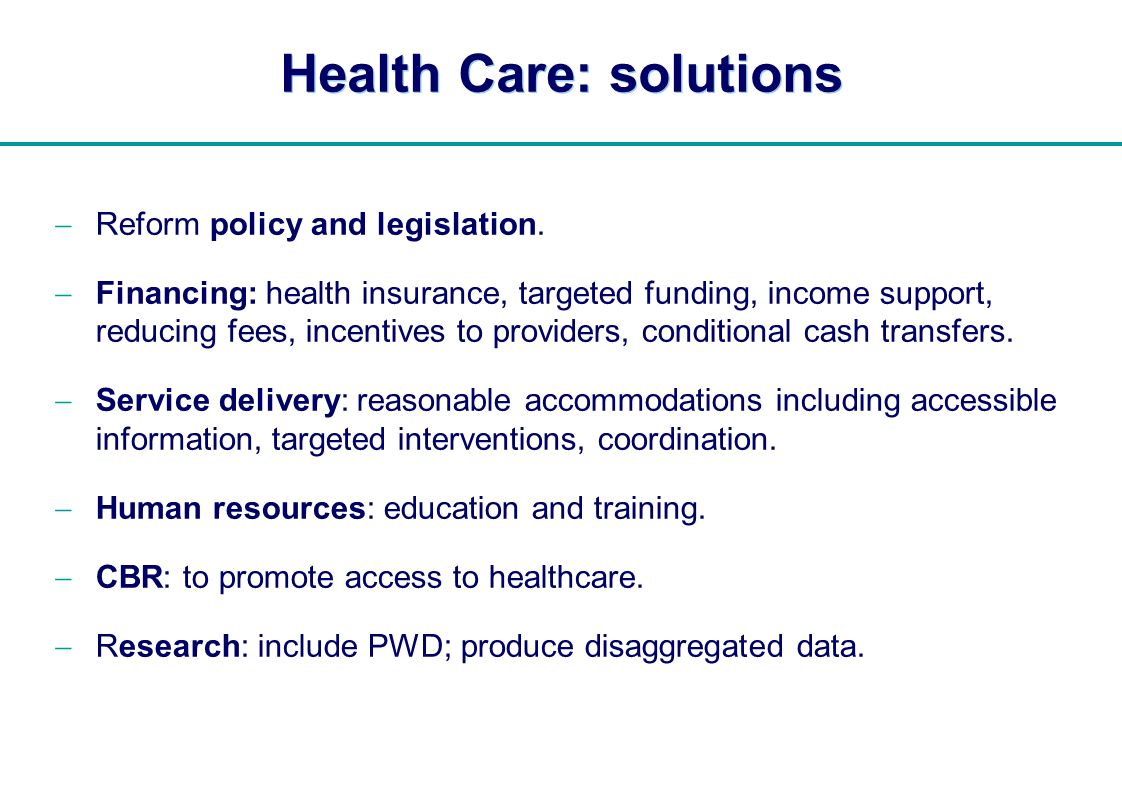 Health Care: solutions