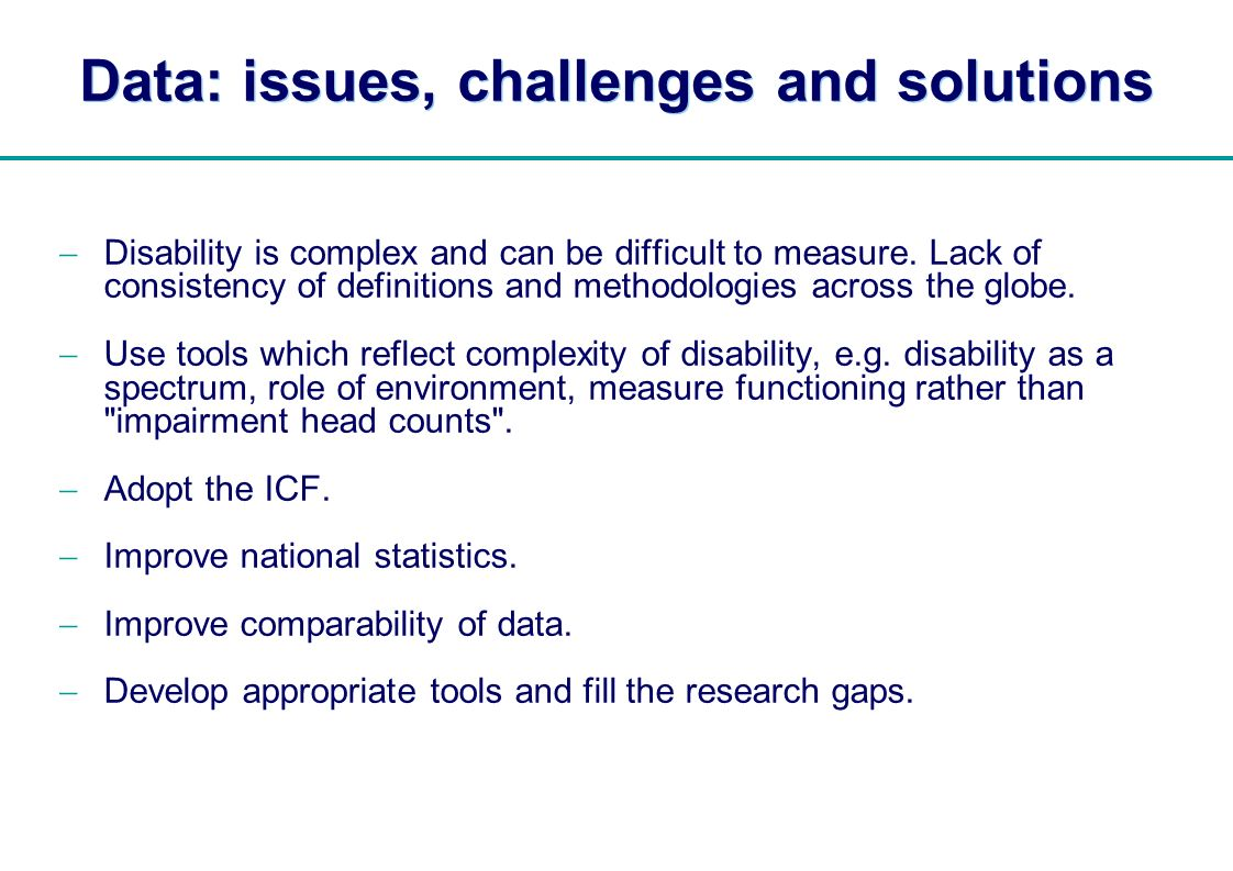 Data: issues, challenges and solutions