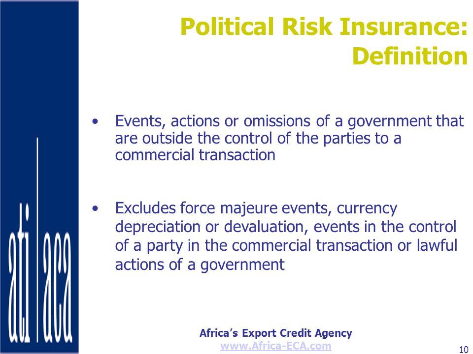 Political Risk Insurance: Definition