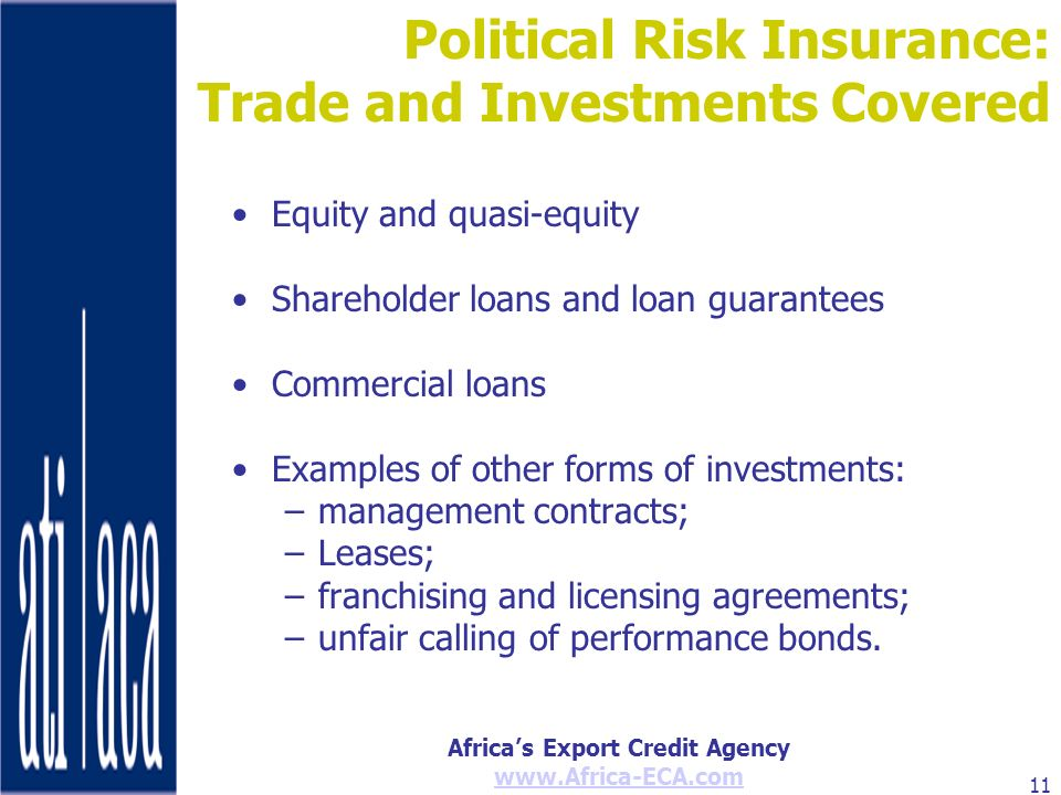 Political Risk Insurance: Trade and Investments Covered
