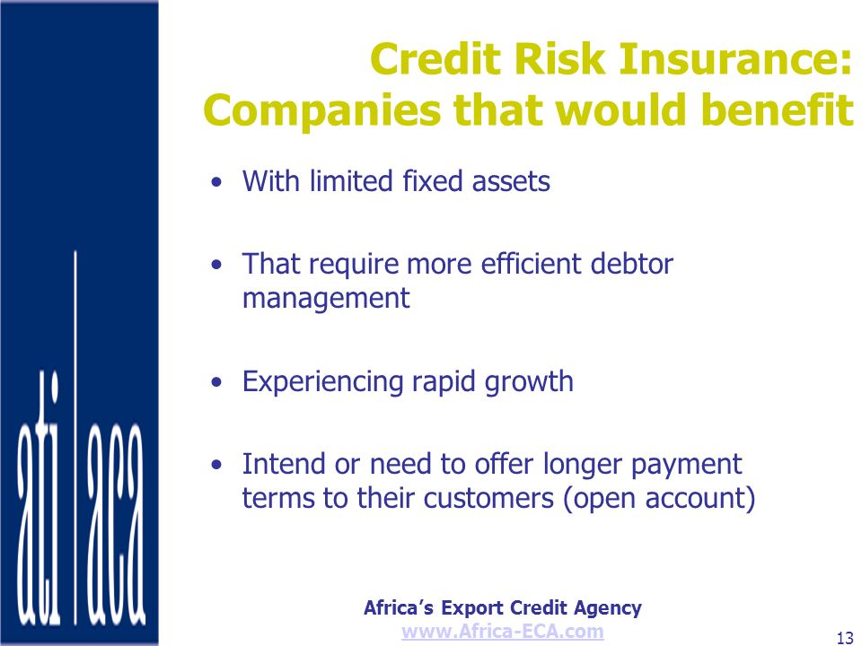 Credit Risk Insurance: Companies that would benefit