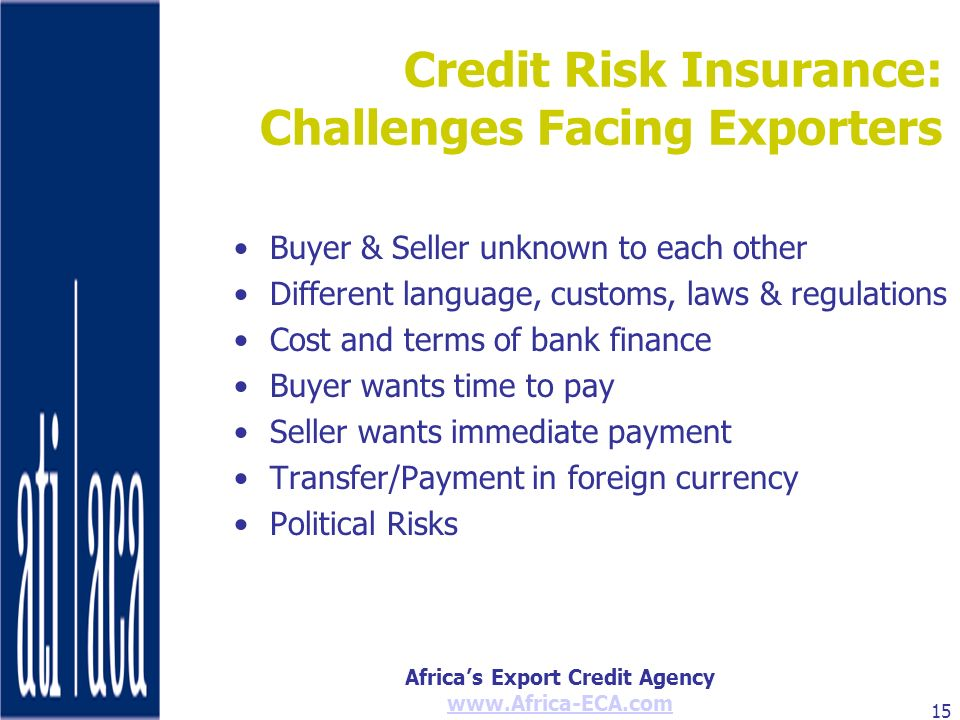 Credit Risk Insurance: Challenges Facing Exporters