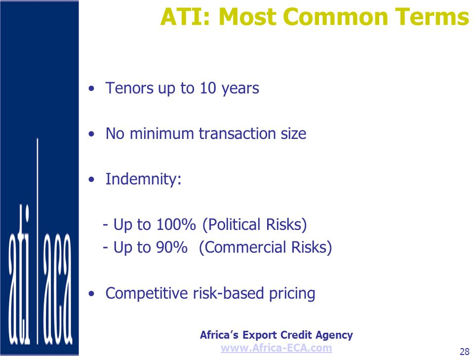ATI: Most Common Terms Tenors up to 10 years