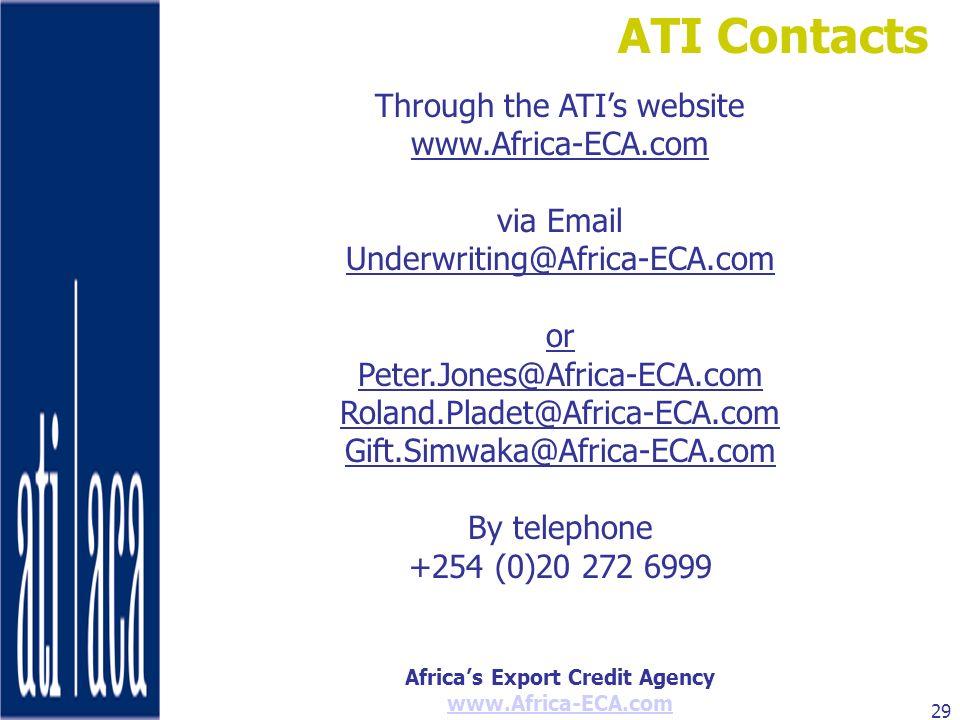 Through the ATI's website