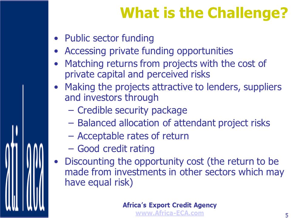 What is the Challenge Public sector funding