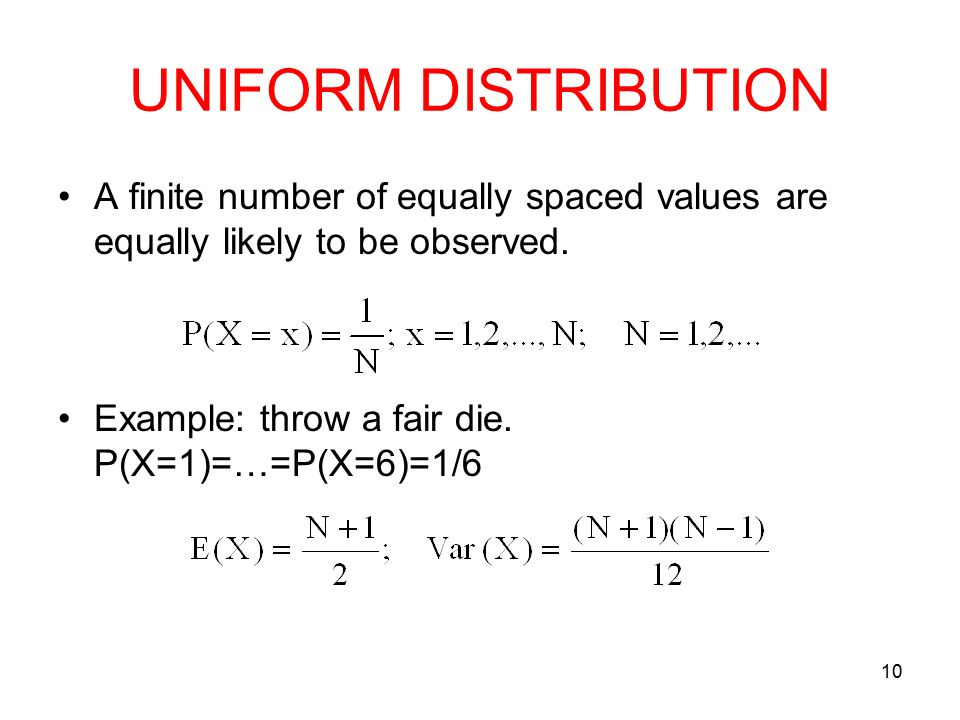 how to find expected value of uniform distribution